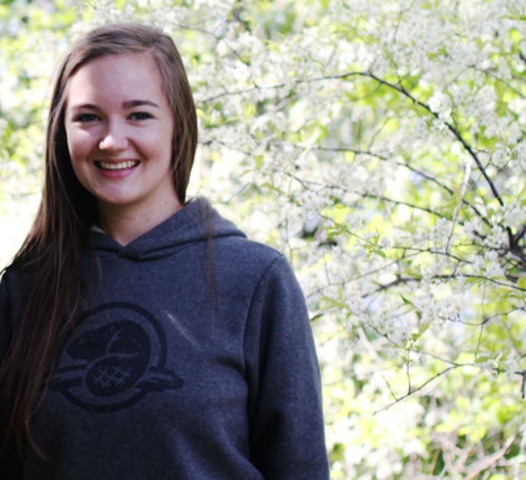 The honourable Peter Kent, Canada's Environment Minister and Minister responsible for Parks Canada, announces that Julia Belliveau,from Sussex, New Brunswick, as one of the next Duke and Duchess of Cambridge Parks Canada Youth Ambassadors. (CNW Group/Parks Canada)