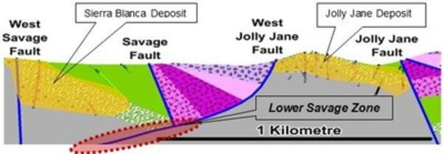 Figure 3: Lower Savage Target area. (CNW Group/Corvus Gold Inc.)