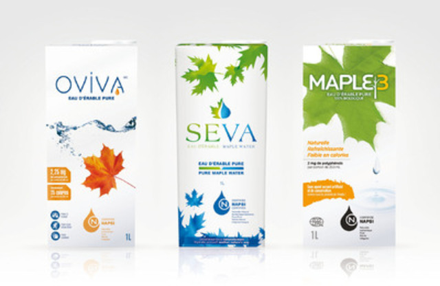 OVIVA, SEVA, MAPLE3 maple water. (CNW Group/FEDERATION OF QUEBEC MAPLE SYRUP PRODUCERS)