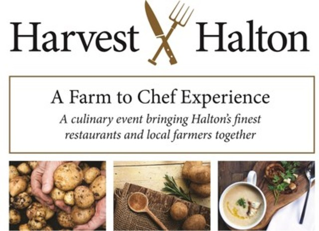 Harvest Halton, the region's culinary event bringing Halton's finest restaurants and local farmers together for an unforgettable farm-to-chef experience, takes place Sunday, October 16, from 1 to 4 p.m. in downtown Oakville. (CNW Group/The Regional Municipality of Halton)