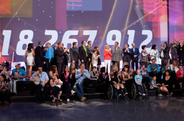 La 25e édition du Téléthon Opération Enfant Soleil s'est conclue avec un chiffrier cumulatif record de 18 267 912 $. (Groupe CNW/OPERATION ENFANT SOLEIL)
