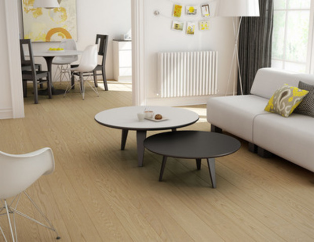 White Oak, oiled, Brushed texture, colour Stockholm, 7'', SolidGenius XL (CNW Group/Preverco)