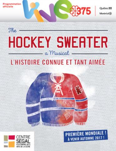Affiche officielle The Hockey Sweater (Groupe CNW/Société des célébrations du 375e anniversaire de Montréal)