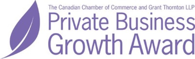 The Private Business Growth Award presented by The Canadian Chamber of Commerce and Grant Thornton LLP (CNW Group/Grant Thornton LLP)