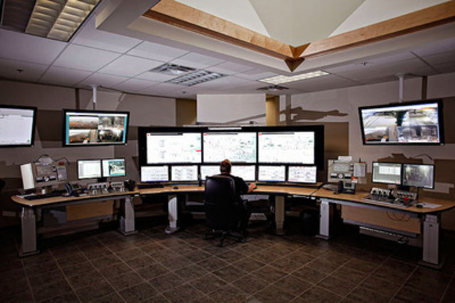 Totten Mine Control Room (CNW Group/Vale Canada Limited)