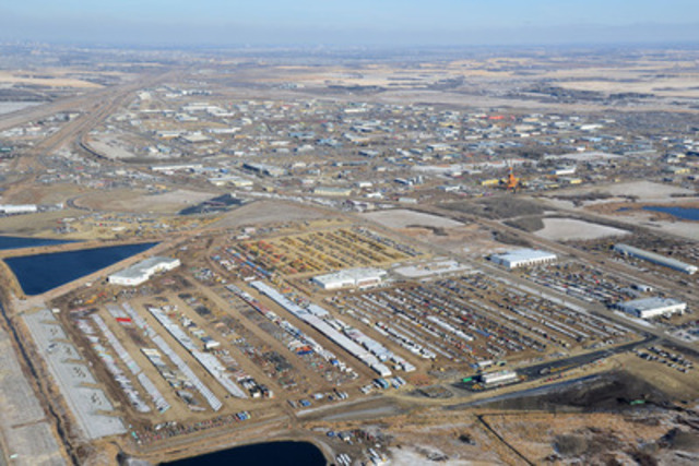 Ritchie Bros. Auctioneers held a record-breaking auction this week at its permanent site in Edmonton, AB. More than 5,850 equipment items and trucks were sold for CA$95+ million--making it the largest two-day auction in Company history. (CNW Group/Ritchie Bros. Auctioneers)