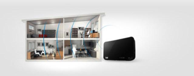 Bell a annoncé aujourd'hui le lancement de la nouvelle Borne universelle 3000, qui offre le service Wi-Fi à domicile le plus puissant au Canada et le premier service de télévision IP entièrement sans fil au monde avec l'enregistreur Partout chez vous 4K sans fil de Bell Télé Fibe. (Groupe CNW/Bell Canada)