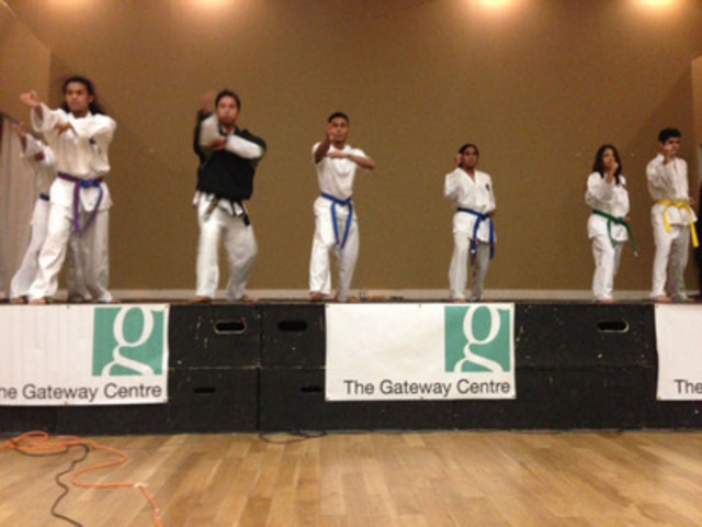 Limitless Tae Kwon Do performs at HelpPhilippines fundraiser Mississauga (CNW Group/World Vision Canada)