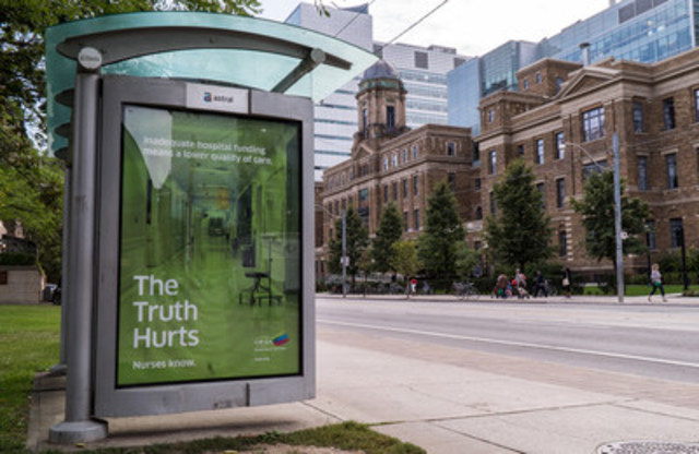 The Truth Hurts. Nurses Know is the name of the campaign launched across the province to educate Ontarians about the state of their health-care system. (CNW Group/Ontario Nurses' Association)