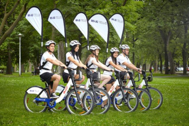 L'escouade WI-XI TELUS parcourra les rues de Montréal à BIXI cet été en offrant un accès gratuit au puissant réseau 4G LTE de TELUS. (Groupe CNW/TELUS Corporation)