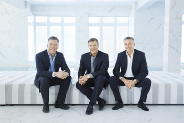 Réseau Sélection's three shareholders (left to right): Yves Mongeau, President CH2015 and Vice President, Real Estate, Réal Bouclin, President and Chief Executive Officer, Robert Laplante, Executive Vice President. (CNW Group/Réseau Sélection)