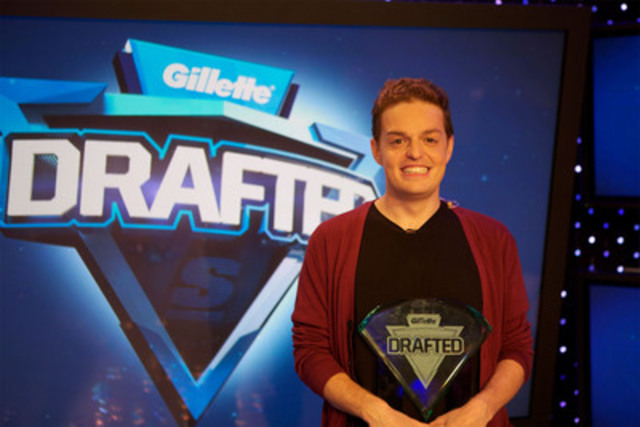 Matt Drappel, winner of Gillette Drafted (CNW Group/The Score)
