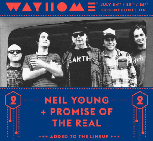 Neil Young + Promise of the Real will be appearing at the WayHome Music and Arts Festival this summer as part of their upcoming Rebel Content Tour. For tickets and more information visit www.wayhome.com (CNW Group/Republic Live Inc.)