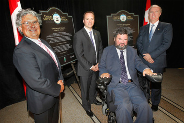 La gare Union de Winnipeg célèbre son centenaire (Groupe CNW/VIA RAIL CANADA INC.)
