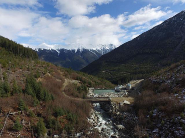 Site hydroélectrique Jamie Creek // Boralex. (Groupe CNW/Boralex inc.)