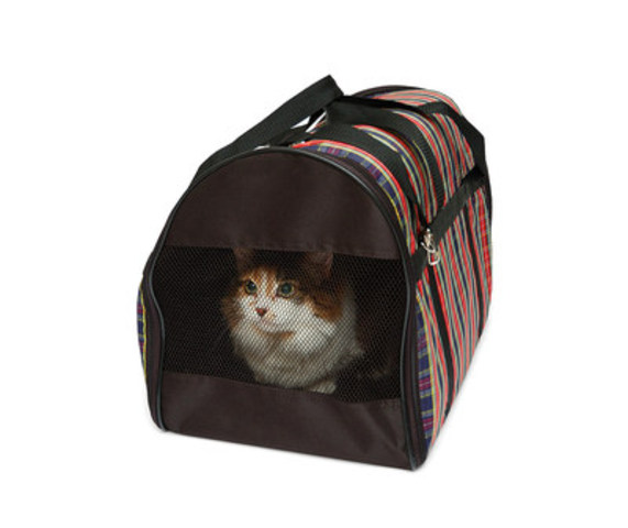 Make sure that you have an airline-approved crate or carrier for your pet. Every airline has their own pet policy, so check with your specific airline before you commit to purchasing a carrier. (CNW Group/Canadian Animal Health Institute)