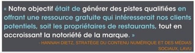 -Hannah Dietz, stratège du contenu numérique et des médias sociaux, Lavu (Groupe CNW/Groupe CNW Ltée)