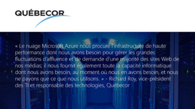Québecor (Groupe CNW/Microsoft Canada Inc.)