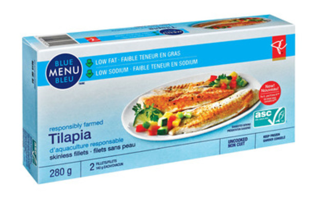 Seafood lovers can now purchase ASC certified PC® Blue Menu® Tilapia at select Loblaw Companies (Loblaw) banner stores across Canada. (CNW Group/Loblaw Companies Limited)
