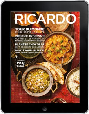 Le magazine RICARDO lance ses éditions tablette dans l'application Next Issue (Groupe CNW/Ricardo Media)