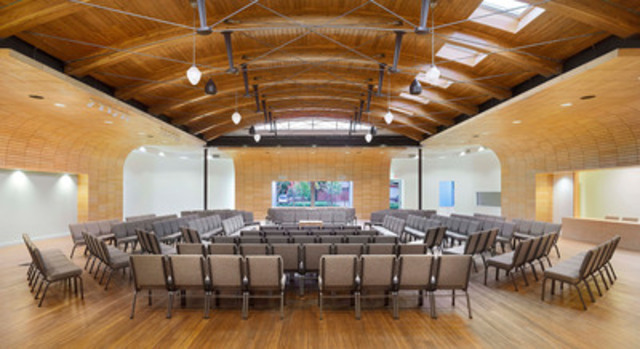 Jury's Choice Award Winner - Local Church of the Saints, Toronto, ON; Architect: C. Y. Lee Architect; Engineer: Blackwell Structural Engineers (CNW Group/Ontario Wood WORKS!)