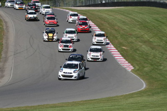 The 2016 Nissan Micra Cup will consist of 16 races spread across eight race weekends, with more than 30 drivers competing (CNW Group/Nissan Canada Inc.)