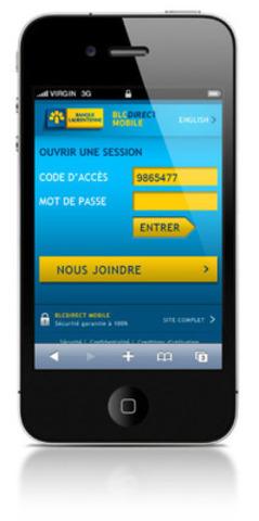 Services BLCDirect Mobile (Groupe CNW/BANQUE LAURENTIENNE DU CANADA)
