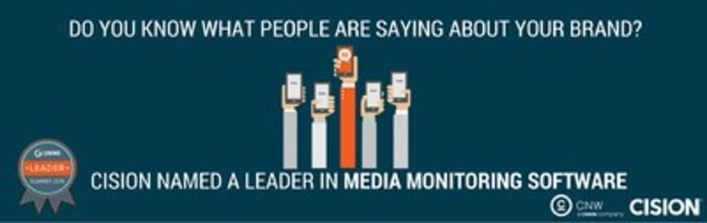 Cision named a Leader in media monitoring software (CNW Group/CNW Group Ltd.)