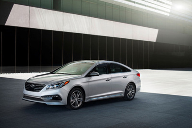 The 2015 Hyundai Sonata sedan has earned a TOP SAFETY PICK+ from the U.S.-based Insurance Institute for Highway Safety. (CNW Group/Hyundai Auto Canada Corp.)
