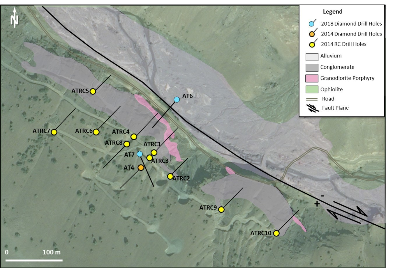 Figure 7. Geology map of Aslantepe prospect. (CNW Group/Alacer Gold Corp.)
