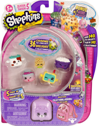 Shopkins Season 5 comes with an extra bracelet in every 5-pack. Now, you can wear your favorite Shopkins on your wrist ! (CNW Group/Imports Dragon)